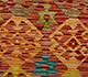 Jaipur Rugs - Flat Weave Wool Red and Orange AFDW-116 Area Rug Closeupshot - RUG1091007