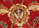 Jaipur Rugs - Hand Knotted Wool Red and Orange FPR-201 Area Rug Closeupshot - RUG1037945
