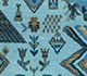 Jaipur Rugs - Hand Knotted Wool and Bamboo Silk Blue LES-219 Area Rug Closeupshot - RUG1077890