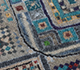 Jaipur Rugs - Hand Knotted Wool and Bamboo Silk Blue LES-710 Area Rug Closeupshot - RUG1106959