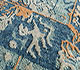 Jaipur Rugs - Hand Knotted Wool and Silk Blue LRS-15 Area Rug Closeupshot - RUG1090086