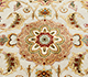Jaipur Rugs - Hand Knotted Wool and Silk Ivory QNQ-10 Area Rug Closeupshot - RUG1024902