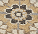 Jaipur Rugs - Hand Knotted Wool and Silk Beige and Brown QNQ-39 Area Rug Closeupshot - RUG1066214