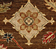 Jaipur Rugs - Hand Knotted Wool Beige and Brown SPR-01 Area Rug Closeupshot - RUG1023517