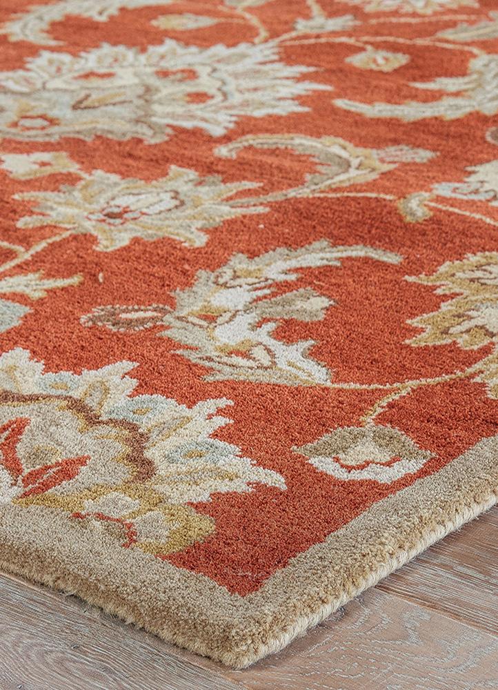 Jaipur Rugs Hand Tufted Wool Red And Orange Trc 626 Area Rug Rug1021276
