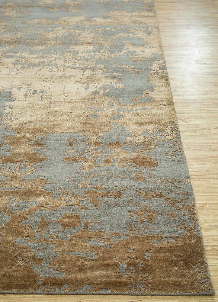 Jaipur Rugs Hand Knotted Wool And Bamboo Silk Grey And Black Esk 431 Area Rug Rug1065304