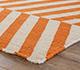 Jaipur Rugs - Flat Weaves Wool Red and Orange DW-112 Area Rug Cornershot - RUG1101334