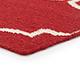 Jaipur Rugs - Flat Weaves Wool Red and Orange DW-119 Area Rug Cornershot - RUG1060327