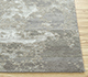 Jaipur Rugs - Hand Knotted Wool and Bamboo Silk Grey and Black ESK-430 Area Rug Cornershot - RUG1053767
