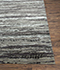 Jaipur Rugs - Hand Knotted Wool and Bamboo Silk Grey and Black ESK-433 Area Rug Cornershot - RUG1074650
