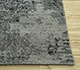 Jaipur Rugs - Hand Knotted Wool and Bamboo Silk Grey and Black ESK-661 Area Rug Cornershot - RUG1094466