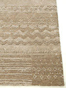 Jaipur Rugs - Hand Knotted Wool and Bamboo Silk Grey and Black ESK-663 Area Rug Cornershot - RUG1053617