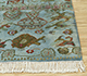 Jaipur Rugs - Hand Knotted Wool and Bamboo Silk Blue LES-285 Area Rug Cornershot - RUG1093083