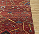 Jaipur Rugs - Hand Knotted Wool and Bamboo Silk Red and Orange LES-393 Area Rug Cornershot - RUG1091230
