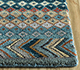 Jaipur Rugs - Hand Knotted Wool and Bamboo Silk Blue LES-413 Area Rug Cornershot - RUG1093551