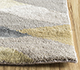 Jaipur Rugs - Hand Knotted Wool and Bamboo Silk Grey and Black LES-500 Area Rug Cornershot - RUG1093911