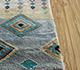 Jaipur Rugs - Hand Knotted Wool and Bamboo Silk Grey and Black LES-673 Area Rug Cornershot - RUG1105893