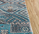 Jaipur Rugs - Hand Knotted Wool and Bamboo Silk Blue LES-710 Area Rug Cornershot - RUG1106959