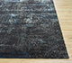 Jaipur Rugs - Hand Knotted Wool and Bamboo Silk Grey and Black LRB-1502 Area Rug Cornershot - RUG1076426