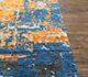 Jaipur Rugs - Hand Knotted Wool and Bamboo Silk Blue LU-9032 Area Rug Cornershot - RUG1081173