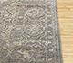Jaipur Rugs - Hand Knotted Wool and Silk Grey and Black NE-2348 Area Rug Cornershot - RUG1083761