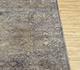 Jaipur Rugs - Hand Knotted Wool and Silk Grey and Black NE-2364 Area Rug Cornershot - RUG1081745