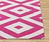 Jaipur Rugs - Flat Weaves Cotton Pink and Purple PDCT-66 Area Rug Cornershot - RUG1086698