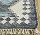 Jaipur Rugs - Flat Weaves Wool and Viscose Blue PDWV-58 Area Rug Cornershot - RUG1098519