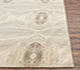 Jaipur Rugs - Hand Knotted Wool and Silk Ivory QM-167 Area Rug Cornershot - RUG1097118