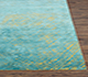 Jaipur Rugs - Hand Knotted Wool and Silk Gold QM-951 Area Rug Cornershot - RUG1076364