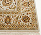 Jaipur Rugs - Hand Knotted Wool and Silk Ivory QNQ-10 Area Rug Cornershot - RUG1024902