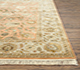 Jaipur Rugs - Hand Knotted Wool and Silk Red and Orange QNQ-21 Area Rug Cornershot - RUG1079255