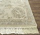 Jaipur Rugs - Hand Knotted Wool and Silk Ivory QNQ-21 Area Rug Cornershot - RUG1077118