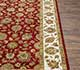 Jaipur Rugs - Hand Knotted Wool and Silk Red and Orange QRS-03 Area Rug Cornershot - RUG1070530