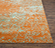 Jaipur Rugs - Hand Knotted Wool and Silk Red and Orange QRS-958 Area Rug Cornershot - RUG1070518