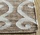 Jaipur Rugs - Flat Weave Wool and Viscose Beige and Brown SDWV-107 Area Rug Cornershot - RUG1099836