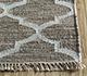 Jaipur Rugs - Flat Weave Wool and Viscose Beige and Brown SDWV-11 Area Rug Cornershot - RUG1100286