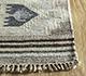 Jaipur Rugs - Flat Weave Wool and Viscose Beige and Brown SDWV-113 Area Rug Cornershot - RUG1100289