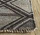 Jaipur Rugs - Flat Weave Wool and Viscose Beige and Brown SDWV-137 Area Rug Cornershot - RUG1099787