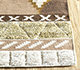 Jaipur Rugs - Flat Weave Wool and Viscose Beige and Brown SDWV-149 Area Rug Cornershot - RUG1099824