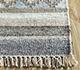 Jaipur Rugs - Flat Weaves Wool and Viscose Beige and Brown SDWV-47 Area Rug Cornershot - RUG1100345