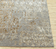 Jaipur Rugs - Hand Knotted Wool and Bamboo Silk Grey and Black SRB-703 Area Rug Cornershot - RUG1085112