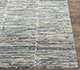 Jaipur Rugs - Hand Knotted Wool and Bamboo Silk Grey and Black SRB-712 Area Rug Cornershot - RUG1074100
