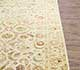 Jaipur Rugs - Hand Knotted Wool and Silk Beige and Brown QNQ-21 Area Rug Cornershot - RUG1043317