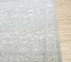 Jaipur Rugs - Hand Knotted Wool and Silk Grey and Black QNQ-44 Area Rug Cornershot - RUG1063076