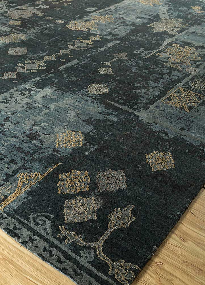 Jaipur Rugs Hand Knotted Wool And Silk Blue Enr 955 Cs 01 Area Rug Rug1115320