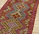 Jaipur Rugs - Flat Weave Wool Red and Orange AFDW-59 Area Rug Floorshot - RUG1090983
