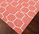 Jaipur Rugs - Flat Weaves Wool Pink and Purple DW-117 Area Rug Floorshot - RUG1060542