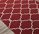 Jaipur Rugs - Flat Weaves Wool Red and Orange DW-119 Area Rug Floorshot - RUG1060327