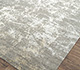 Jaipur Rugs - Hand Knotted Wool and Bamboo Silk Grey and Black ESK-411 Area Rug Floorshot - RUG1065318